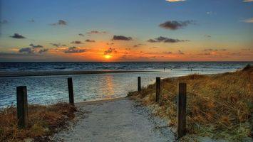 Заставки дорожка, песок, ограда