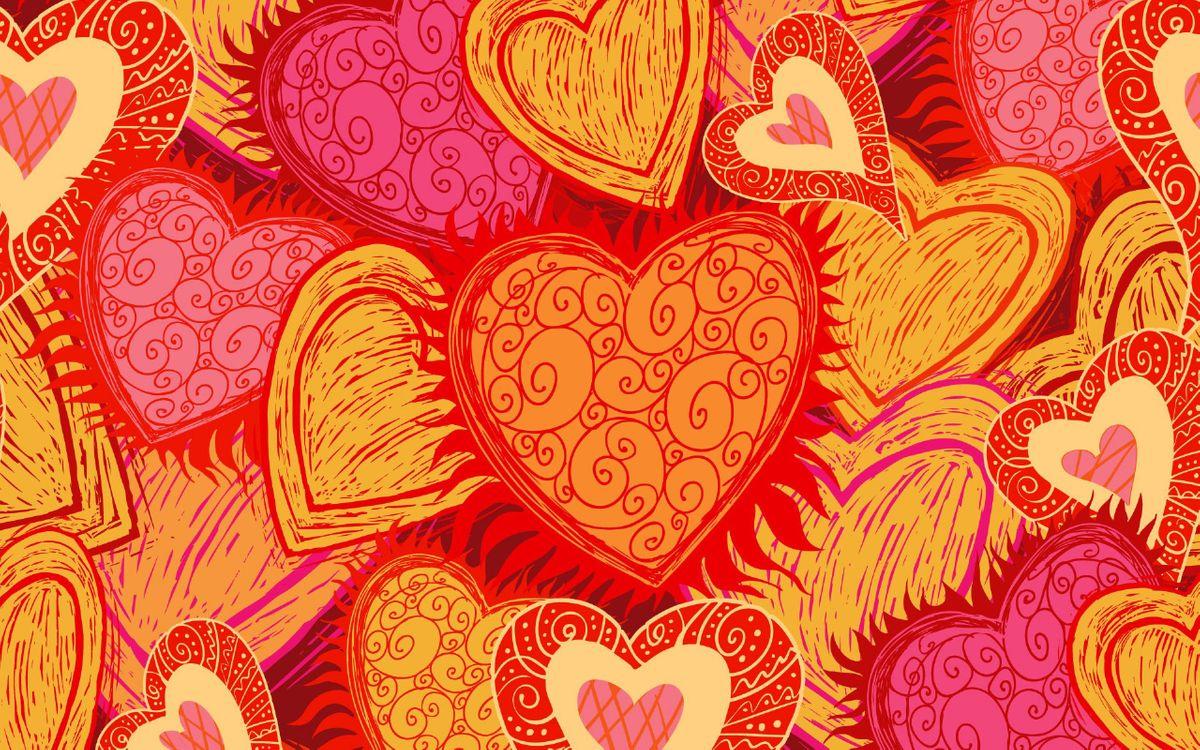 Фото бесплатно фон, заставка, сердечки - на рабочий стол