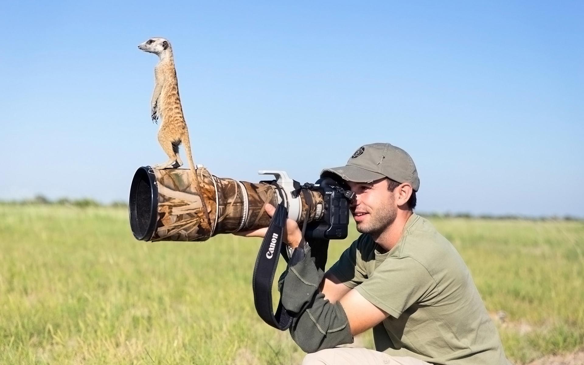 фотограф, фотоаппарат, объектик