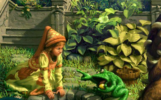 Photo free frog, boy, fairy tale
