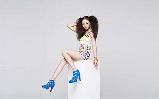 Фото бесплатно модель, азиатка, платье
