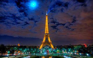 Фото бесплатно освещение, город, облака