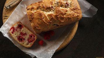 Фото бесплатно пирог, малина, кусок