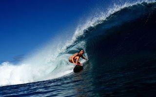 Заставки серфинг,девушка,доска,море,волна,брызги,спорт