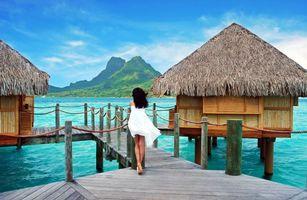 Фото бесплатно тропики, море, бунгало