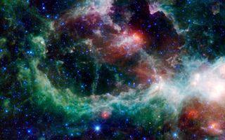 Фото бесплатно туманность, галактика, свет