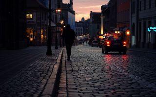 Фото бесплатно улица, человек, дома