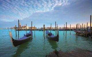 Заставки венеция, море, гондолы