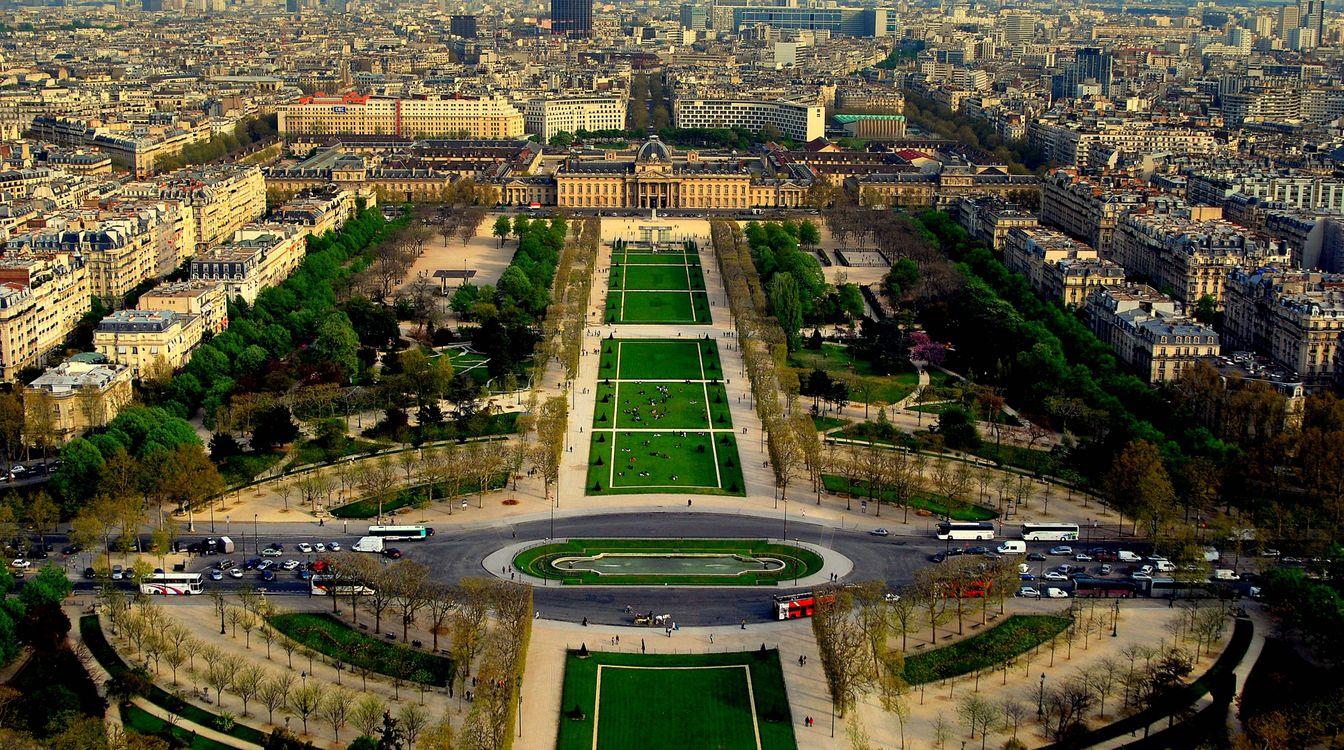 Фото бесплатно вид с эйфелевой башни, париж, франция - на рабочий стол
