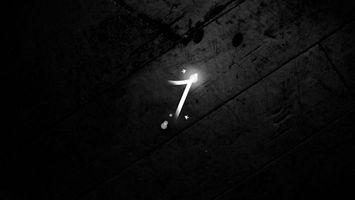 Фото бесплатно windows 7, цифра, на черном