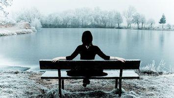 Фото бесплатно зима, девушка, холодно