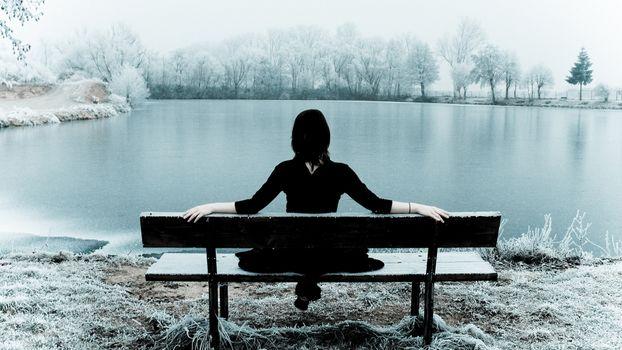 Заставки зима, девушка, холодно