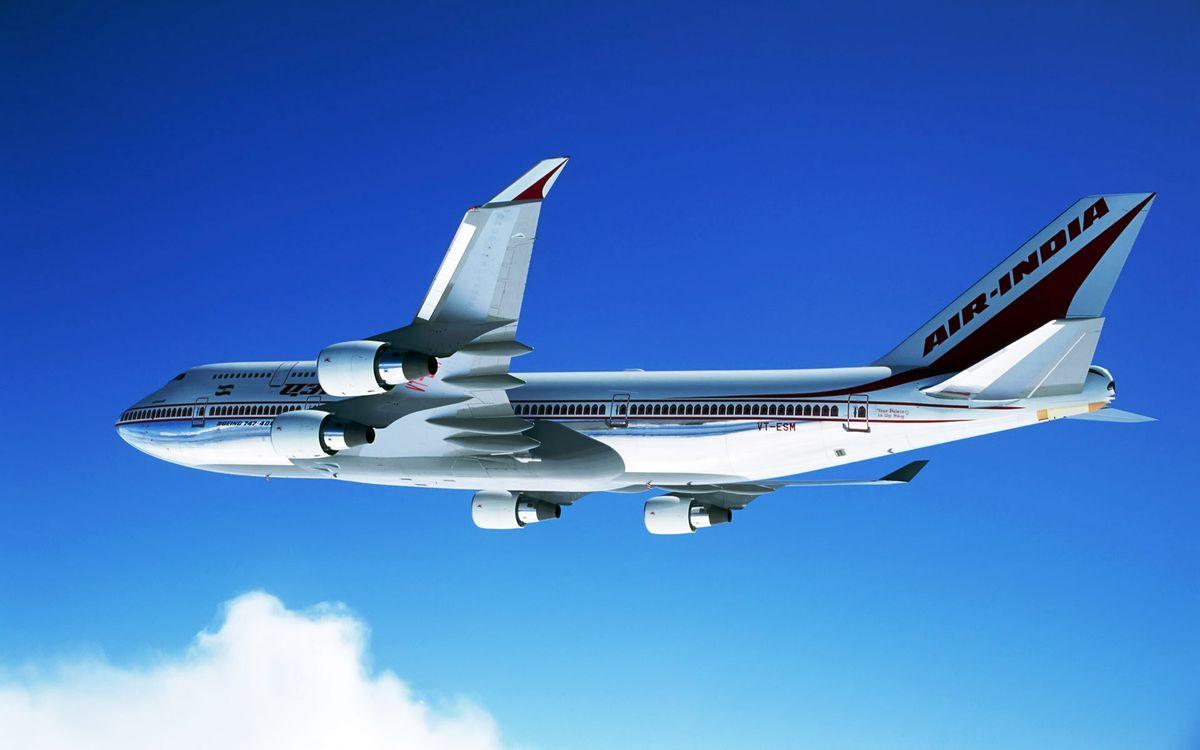 Фото бесплатно самолет, air - india, пассажирский - на рабочий стол