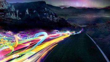 Заставки абстракция, скорость, дорога