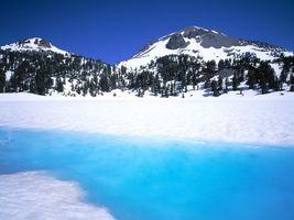 Фото бесплатно горы, снег, лед