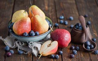 Бесплатные фото фрукты,яблоки,груши,тарелка,ложка,стол,еда