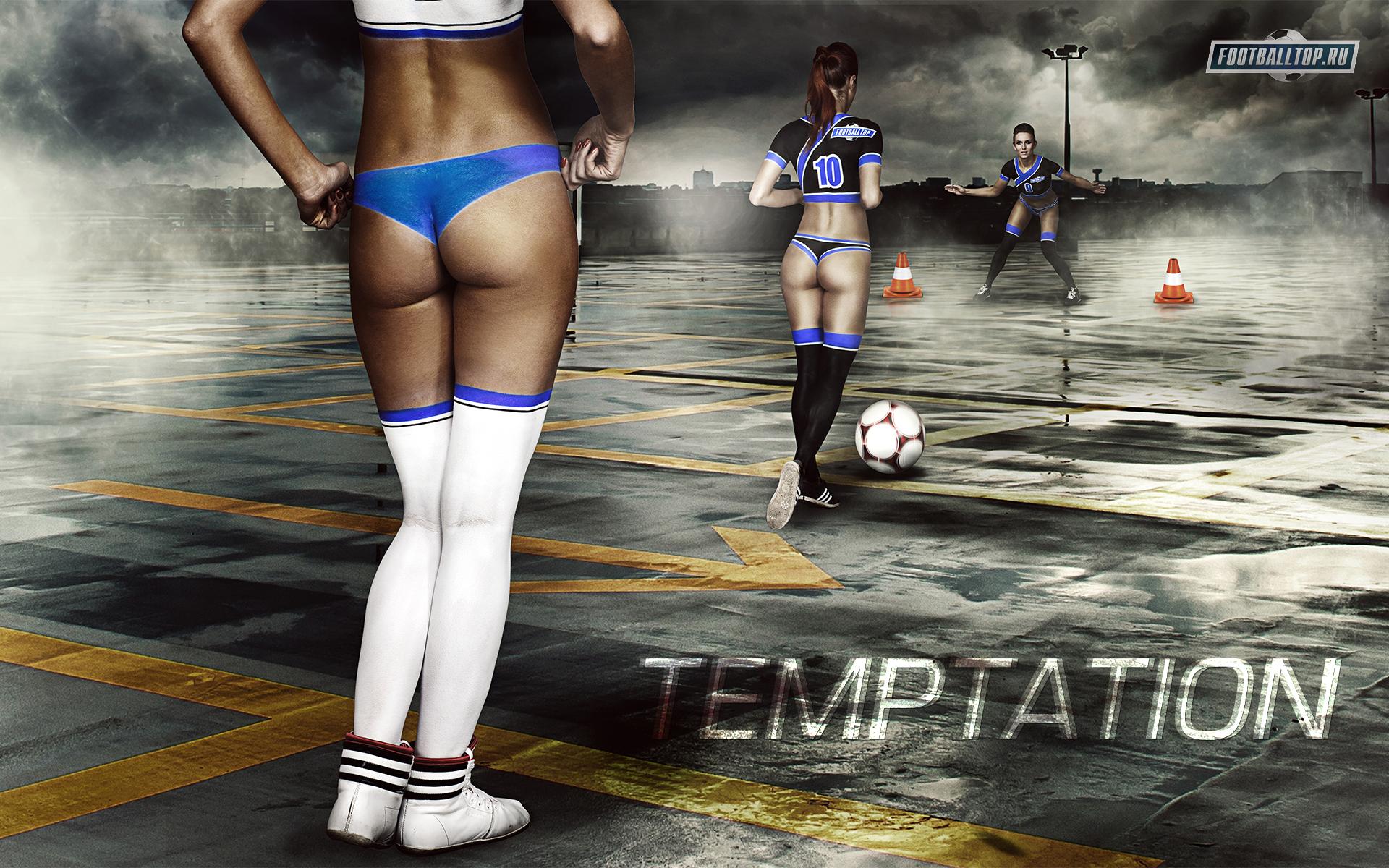 Womens Soccer Body Art