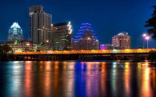 Бесплатные фото город, ночной, огни