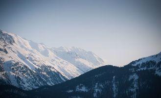 Заставки вершины, зима, горы