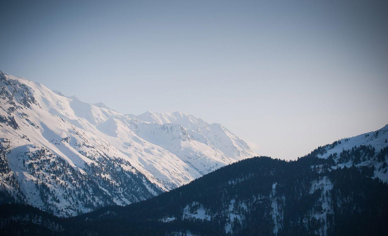 Фото бесплатно вершины, зима, горы - на рабочий стол