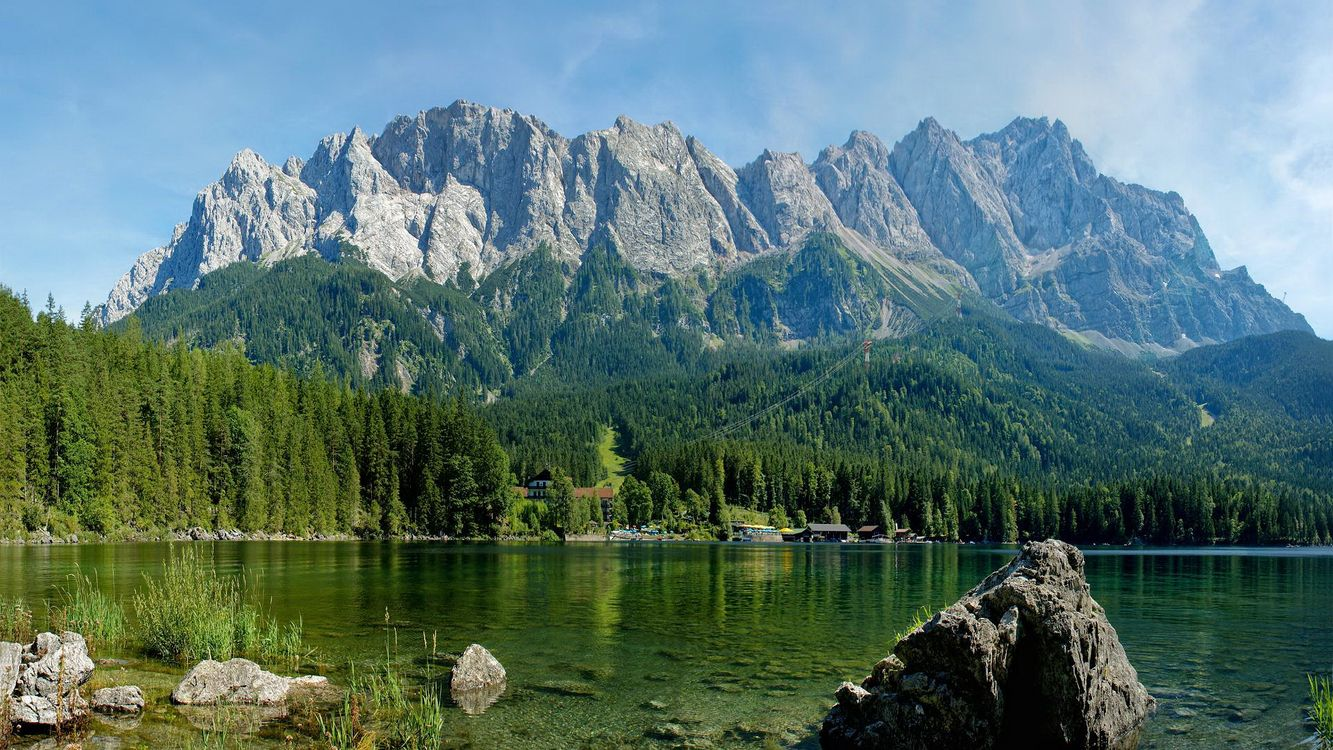 Фото бесплатно горы, небо, облака, воздух, горизонт, вид, камни - на рабочий стол