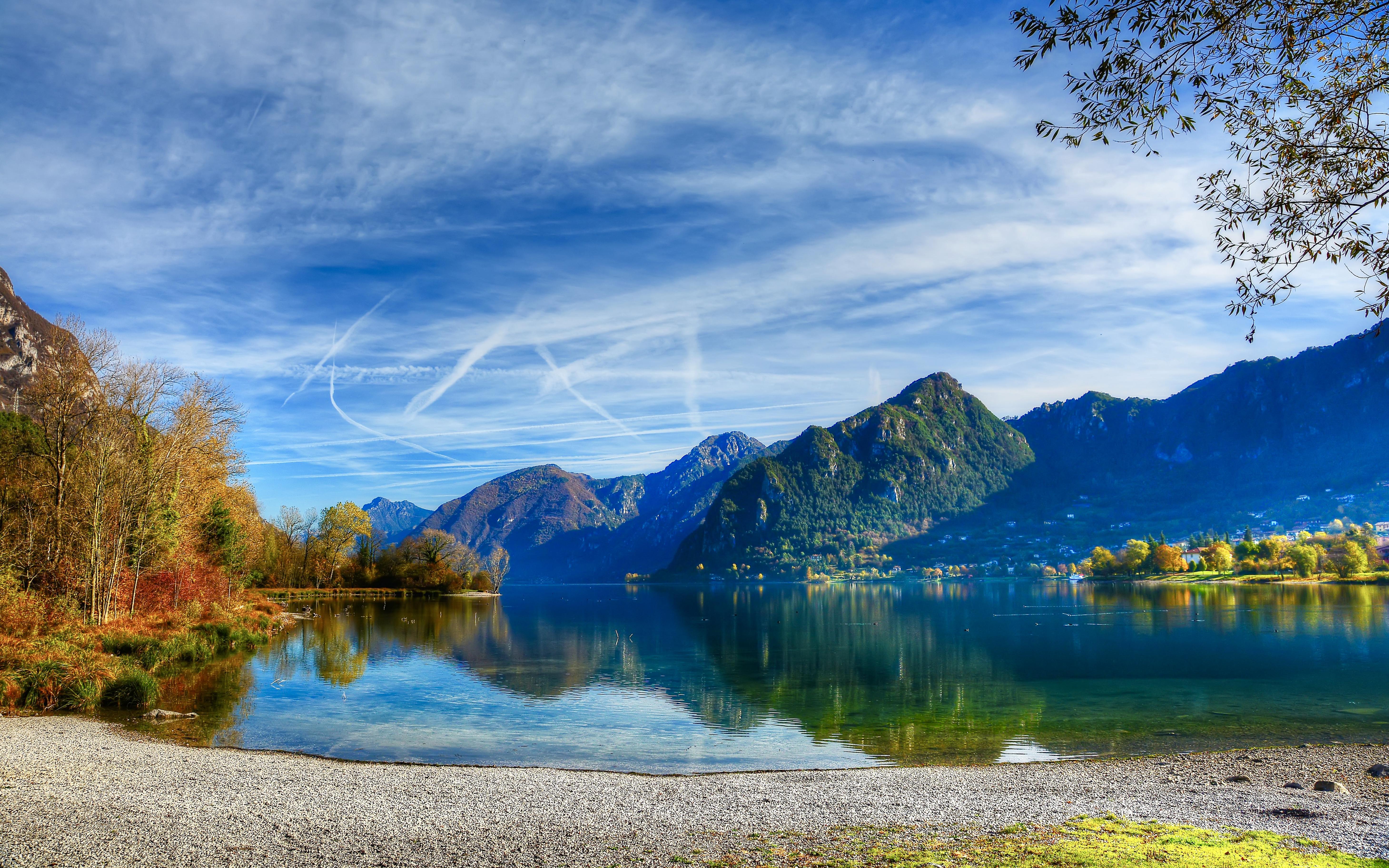 обои Идро, пресное озеро ледникового происхождения, Италия, Брешиа картинки фото