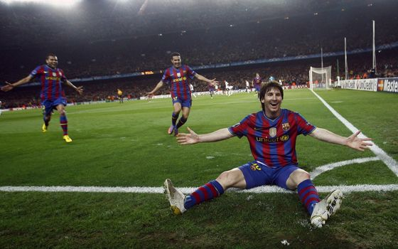 Photo free Lionel Messi, Barcelona, football players