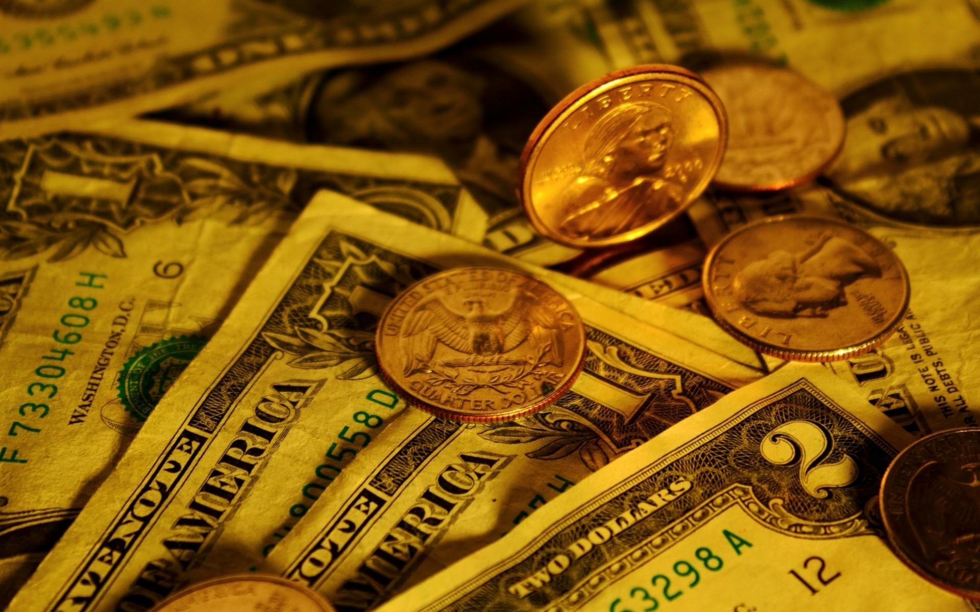 Обои монеты, доллары, центы, бумага