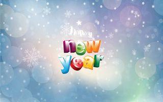 Бесплатные фото new year,надпись,разноцветная,снежинки,звездочки,праздник,настроение