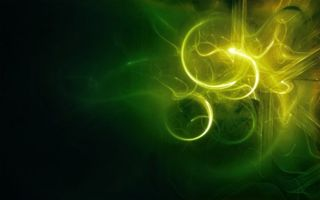 Бесплатные фото огнги,свет,кольца,лучи,зеленый,фон,абстракции