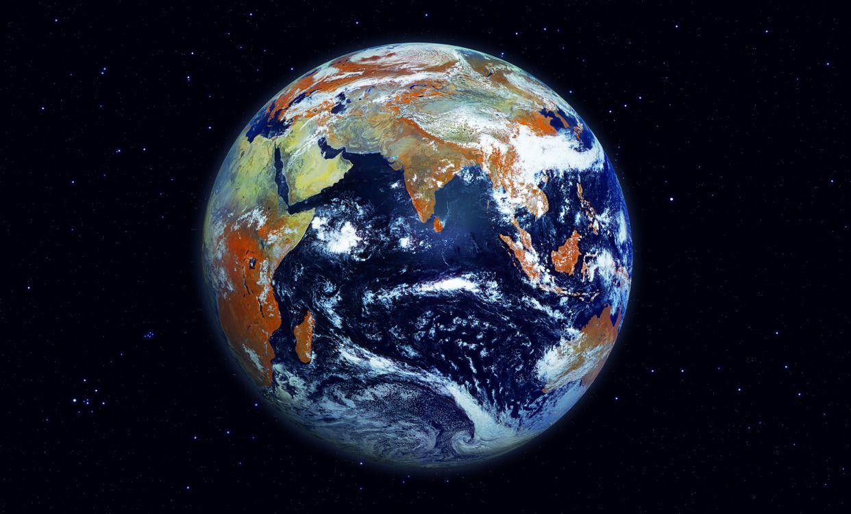 Фото бесплатно планета, облака, земля - на рабочий стол