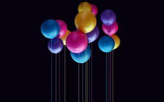 Photo free balls, air, multicolored
