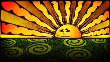 Фото бесплатно солнце, рисунок, узор