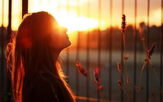 Фото бесплатно sunset, female, girls
