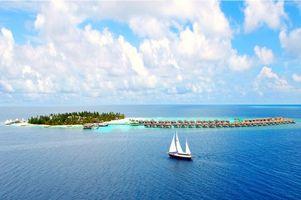 Фото бесплатно бунгало, Мальдивы, море