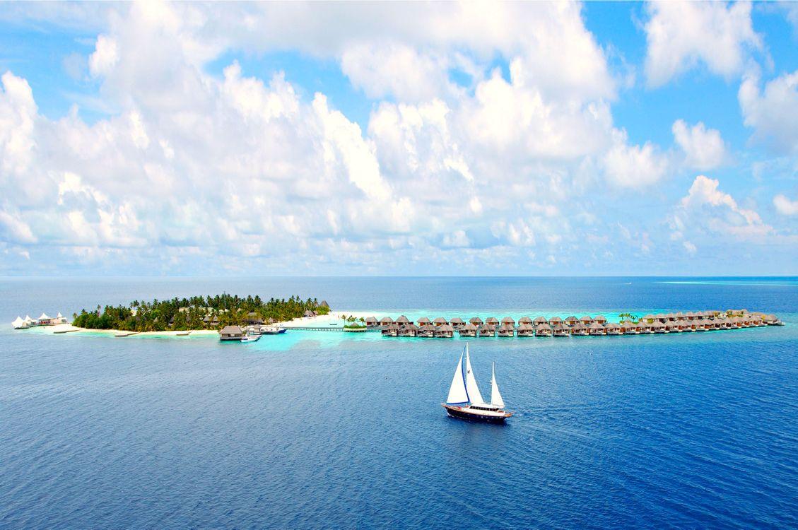 Фото бесплатно бунгало, Мальдивы, море - на рабочий стол