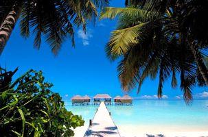 Фото бесплатно пляж, бунгало, пейзаж