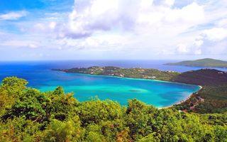Красивые обои тропики, море, пляж на телефон