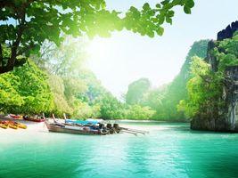 Бесплатные фото тропики,таиланд,море,пляж,лодки,скалы,пейзажи