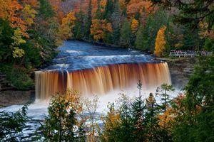 Фото бесплатно upper tahquamenon falls, michigan, осень