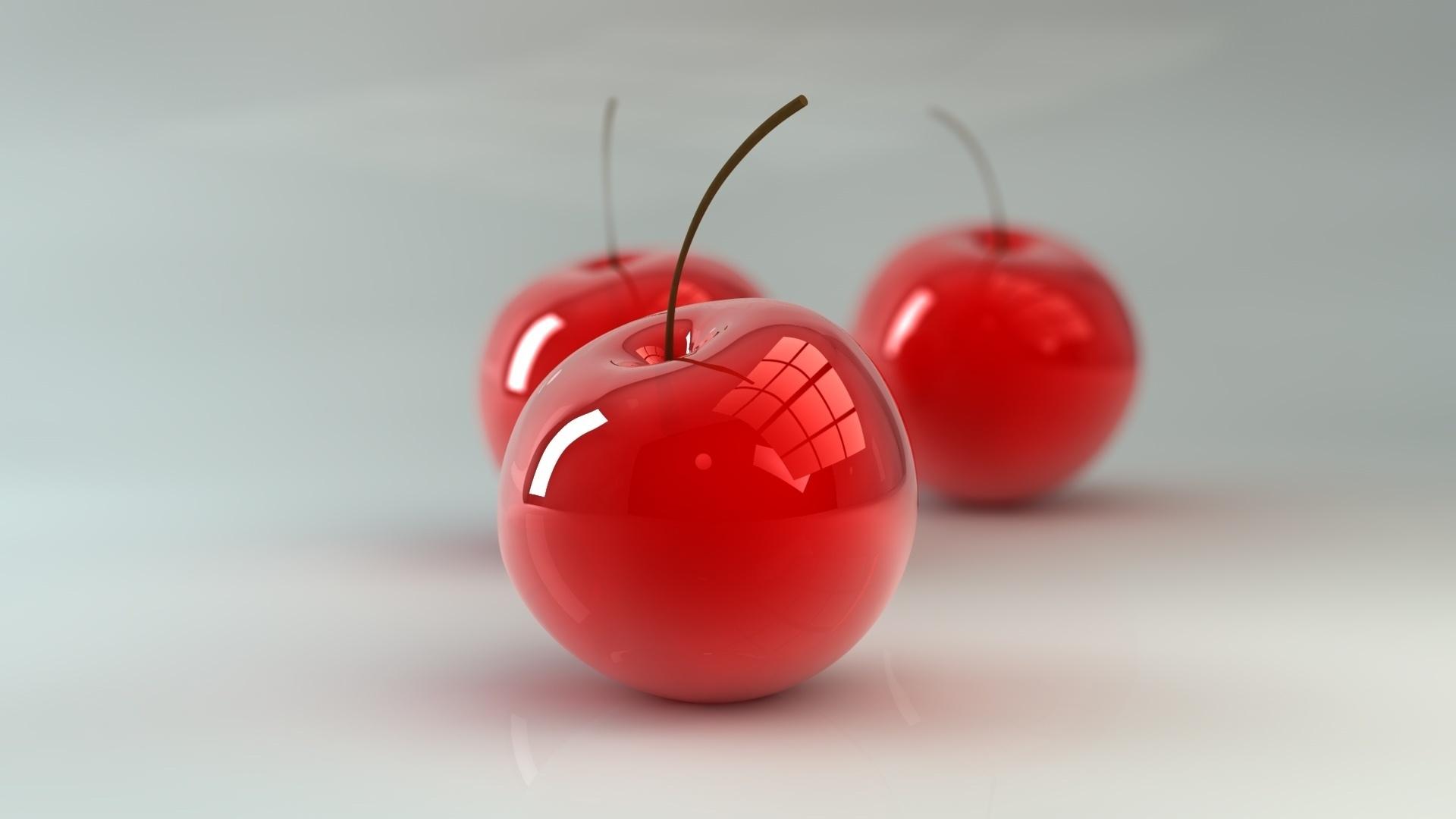 вишни, ягоды, ветка