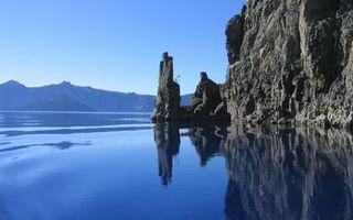 Фото бесплатно вода, река, озеро, скалы, горы, небо, камни, природа
