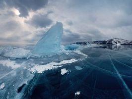Бесплатные фото байкал,озеро,синій,небо,лід,сніг,зима