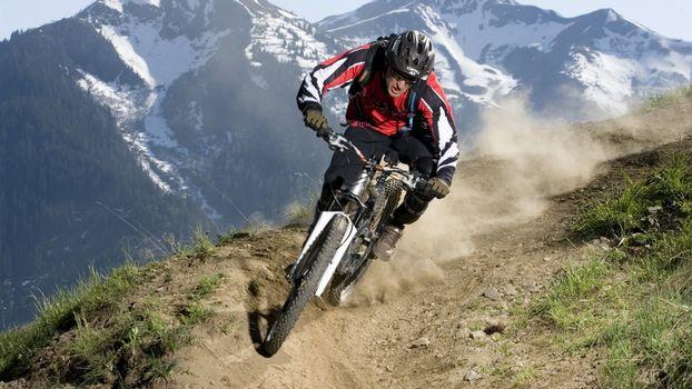 Фото бесплатно горы, mtb, велосипед