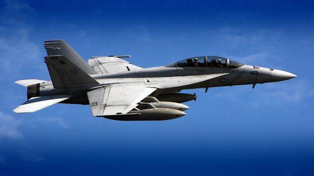 Фото бесплатно обои, f18, самолёт, hornet, небо, истребитель