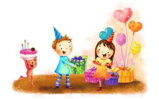 Бесплатные фото день рождения,подарки,торт