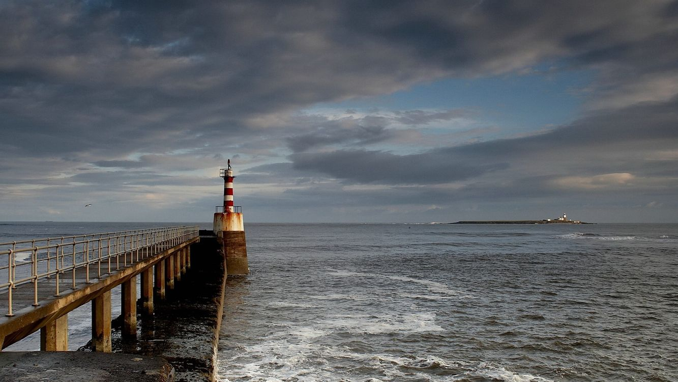 Фото бесплатно маяк, море, океан - на рабочий стол