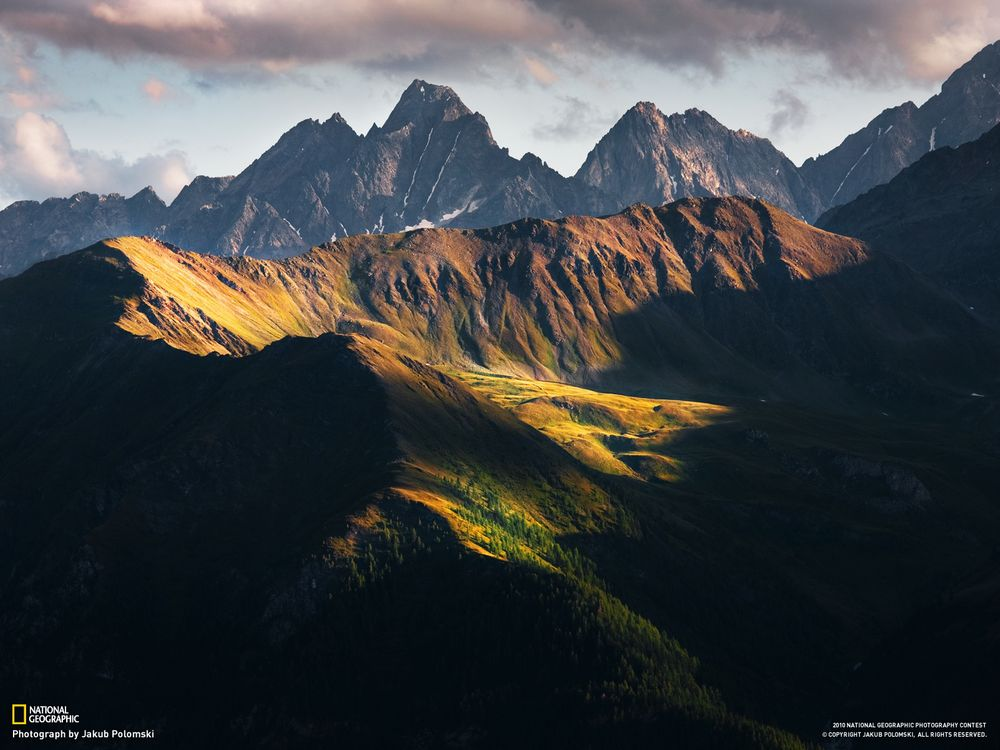 Фото бесплатно горы, ель, сосны, national geographic, тучи, задний план, природа, природа