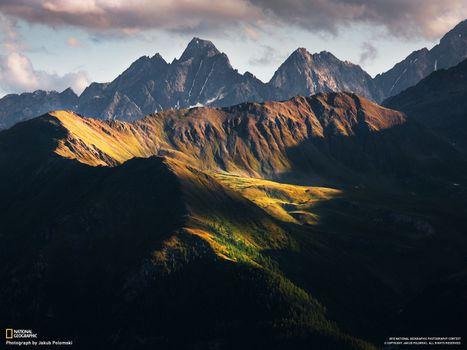 Photo free mountains, fir, pine