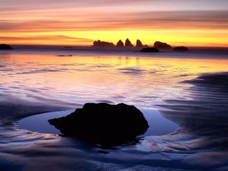 Заставки берег, песок, мокрый